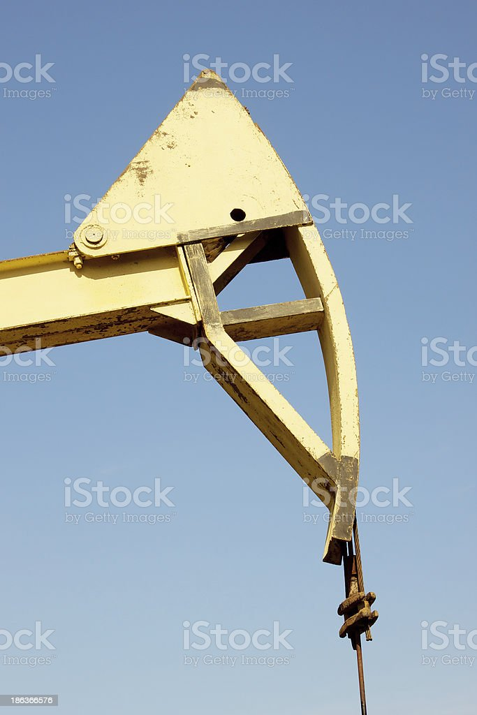 Part of the oil pump royalty-free stock photo