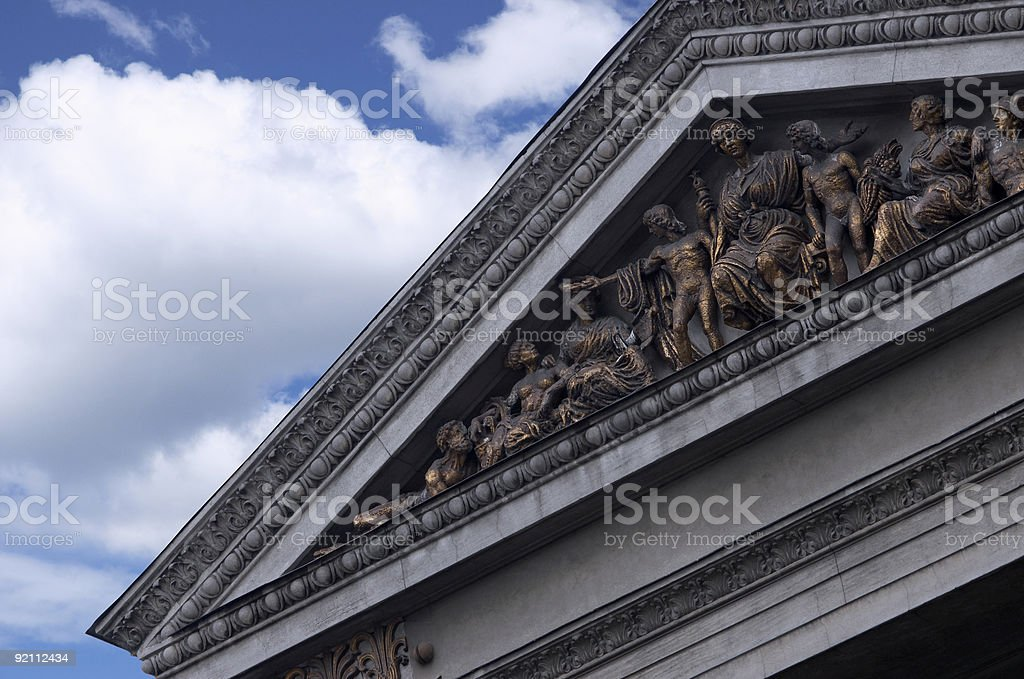 Part of the old building royalty-free stock photo