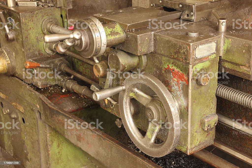 Part of the old lathe. royalty-free stock photo