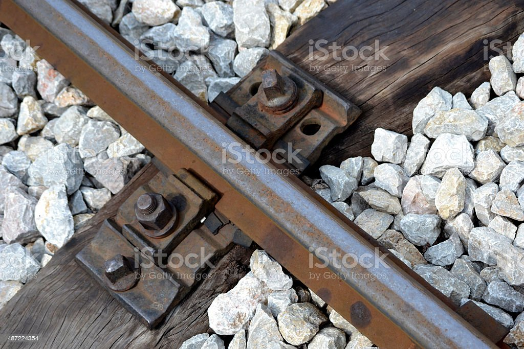 part of the railway tracks retro stock photo