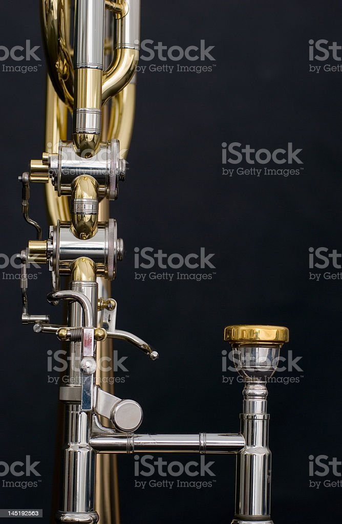 part of the trombone royalty-free stock photo