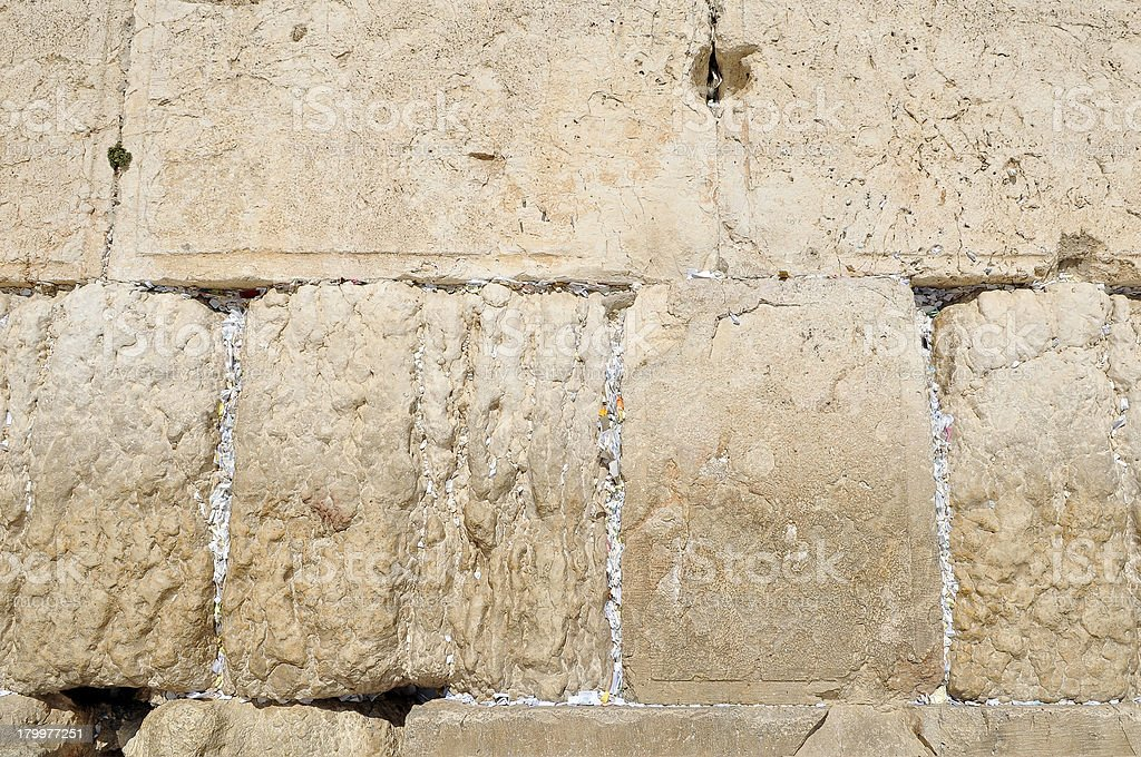 part of the Western Wall, Jerusalem Israel royalty-free stock photo