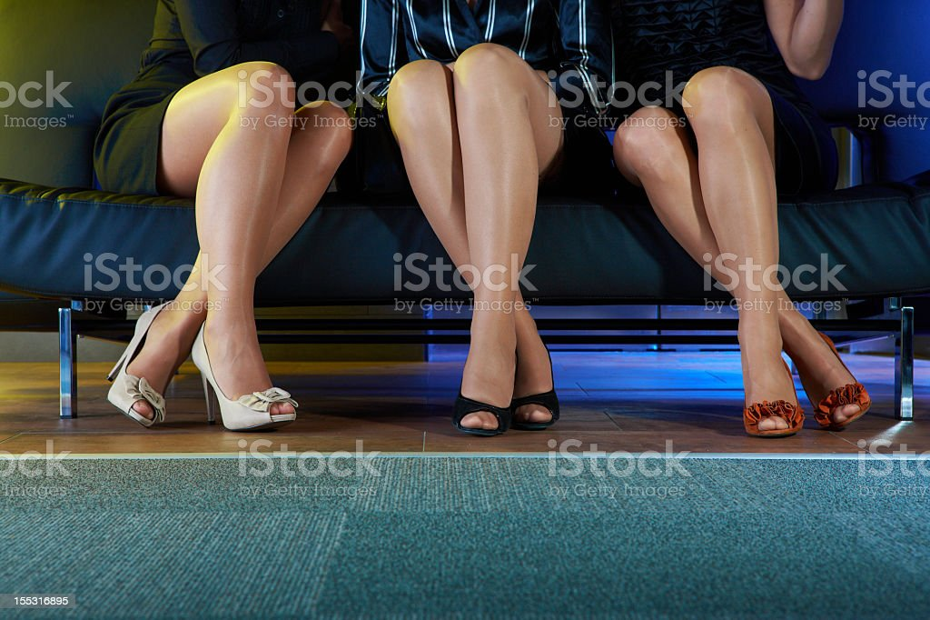 Part of the women body that should be out stock photo