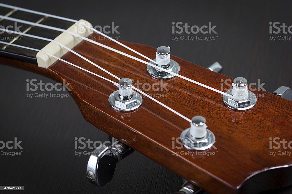 Part of ukulele hawaiian guitar royalty-free stock photo