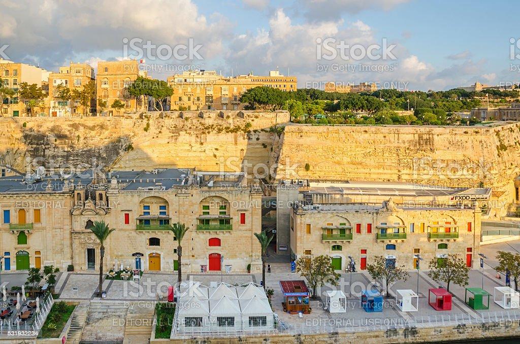 Part of Valletta Waterfront stock photo