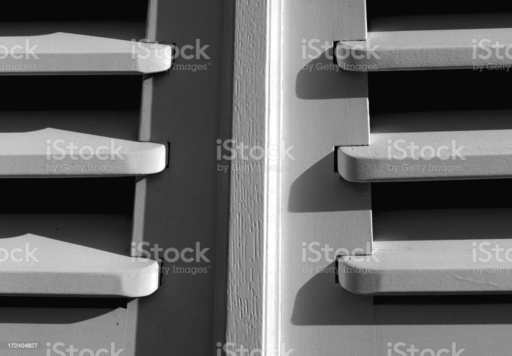 part of window shutter (XXL) stock photo