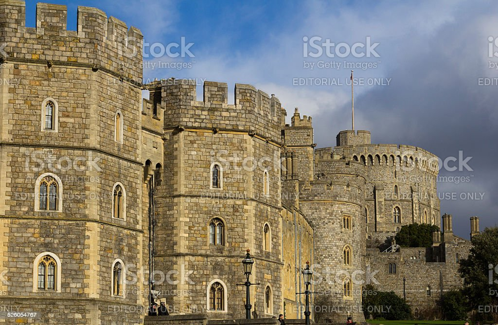 Part of Windsor Castle stock photo
