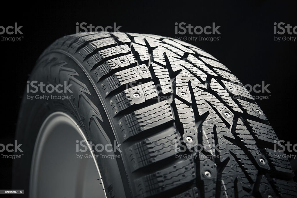 part of winter tire royalty-free stock photo