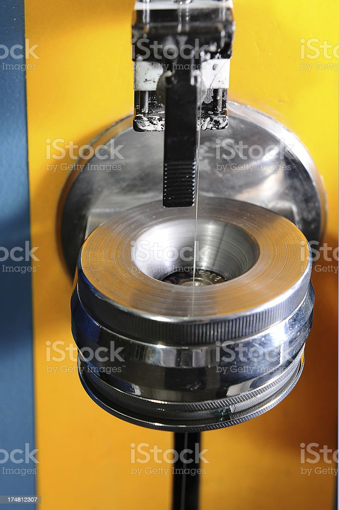 Part of wire production machine royalty-free stock photo