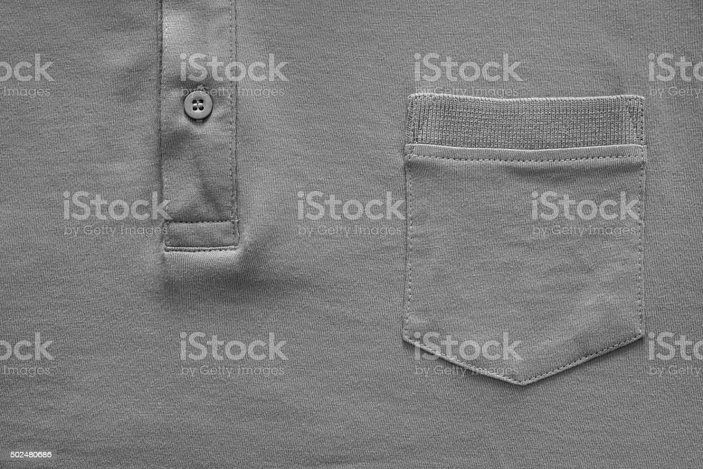 part shirt closeup of gray color stock photo