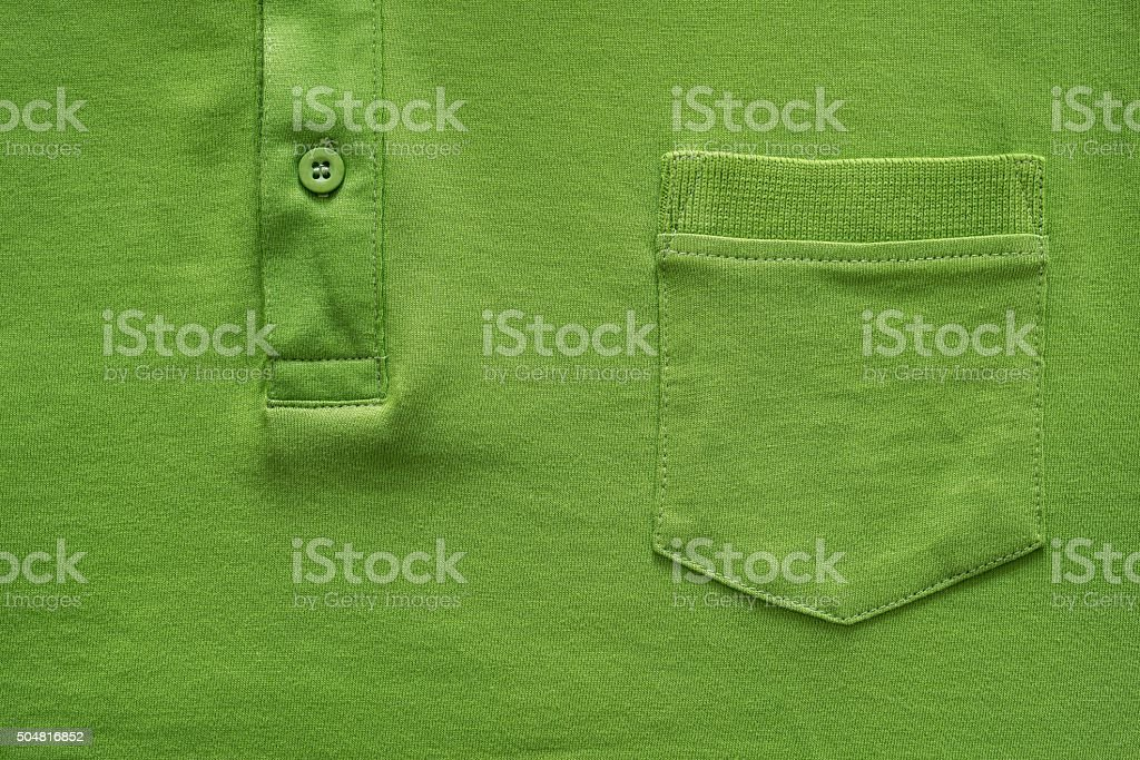 part shirt closeup of green color stock photo