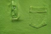 part shirt closeup of green color