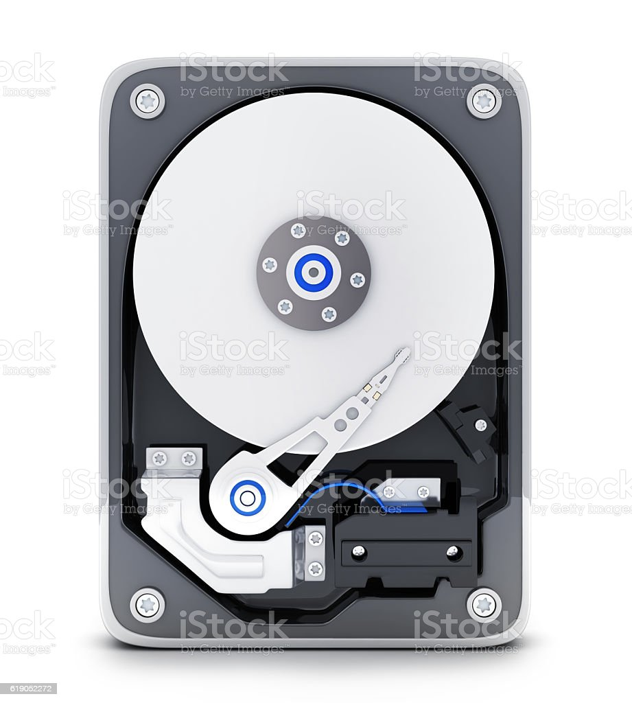 Parth computer HDD stock photo