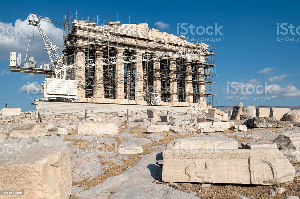 Parthenon Acropolis of Athens, Greece stock photo