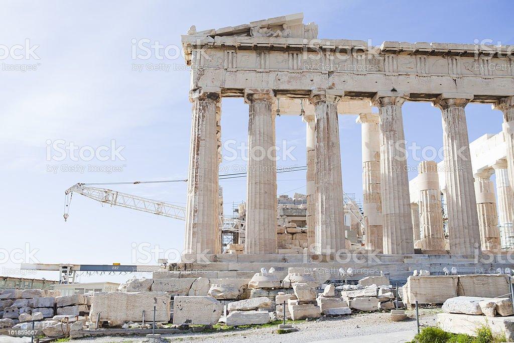 Parthenon at Acropolis Athens royalty-free stock photo