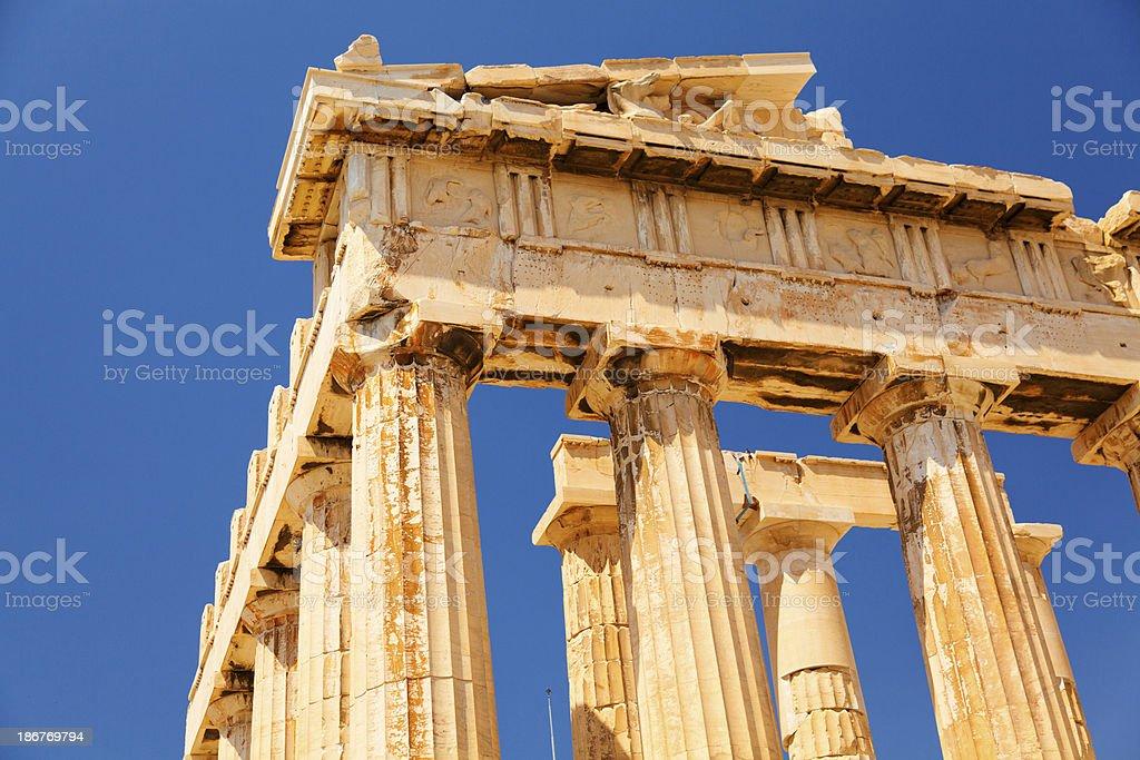 Parthenon at Acropolis, Athens royalty-free stock photo