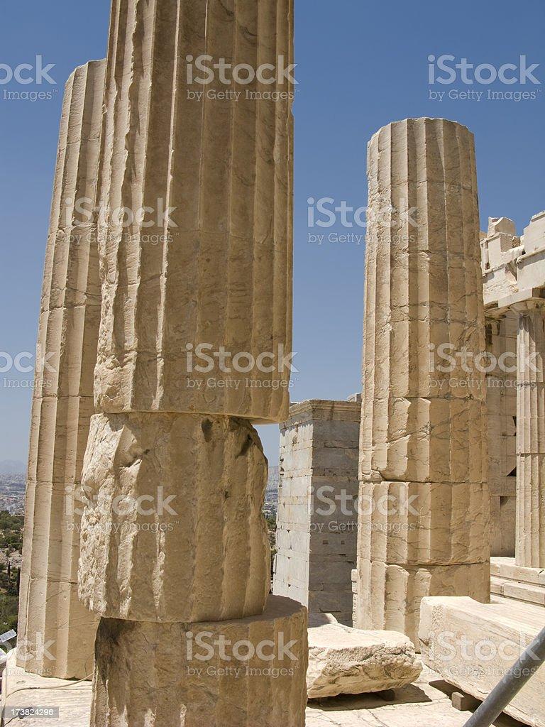 Parthenon Column Askew stock photo