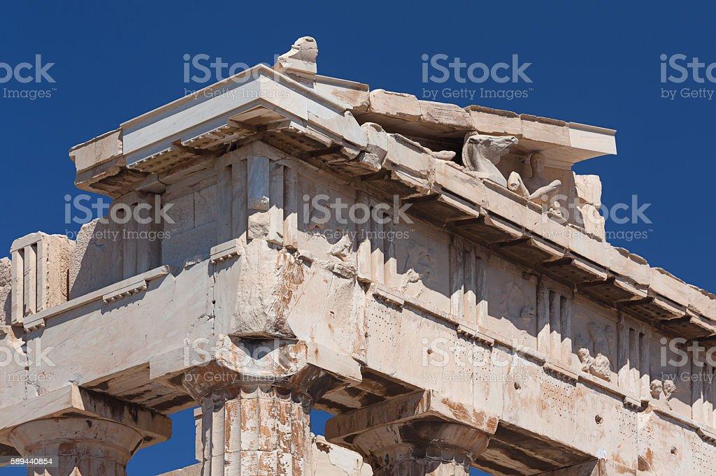 Parthenon Corner stock photo