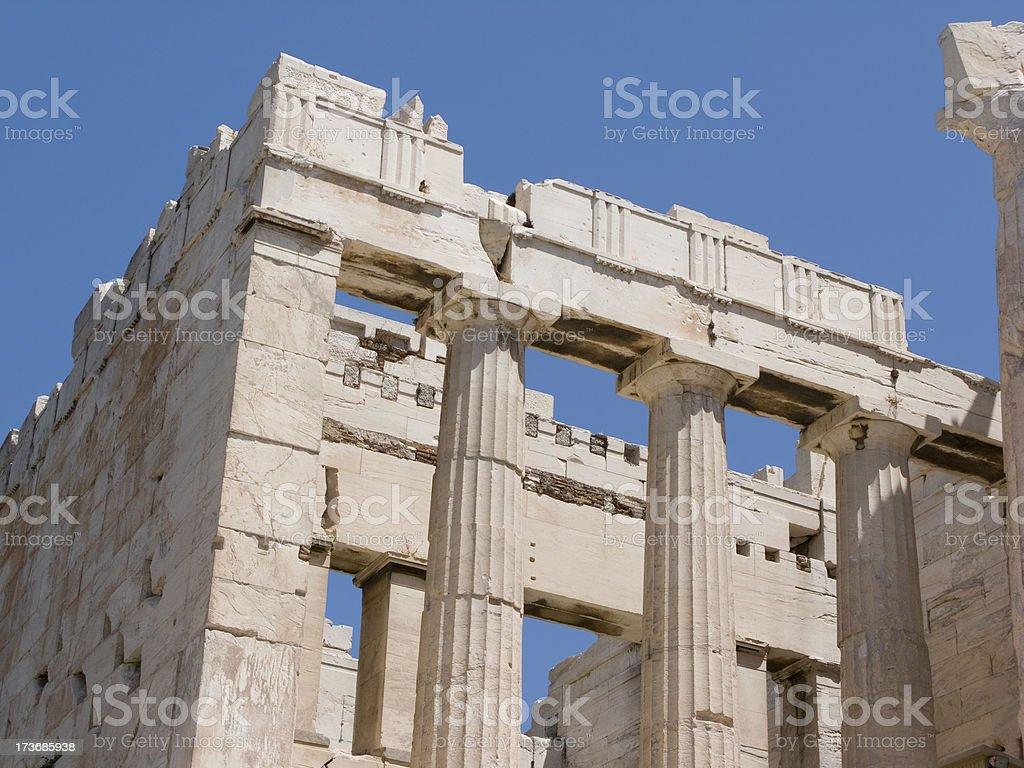 Parthenon Corner View stock photo