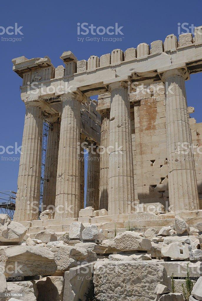 Parthenon details royalty-free stock photo