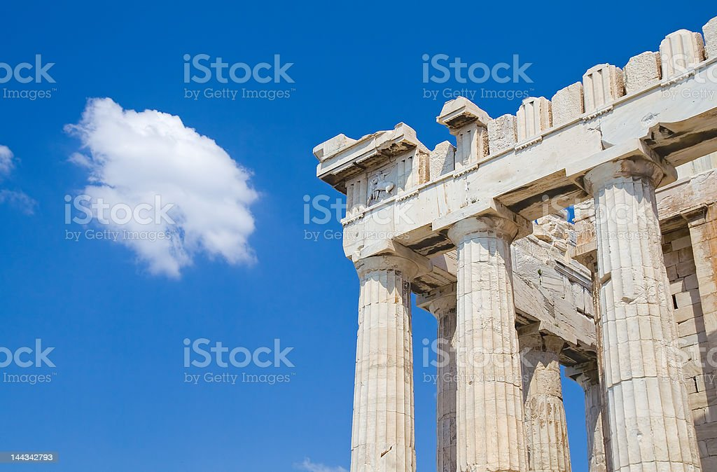 Parthenon - Doric columns royalty-free stock photo