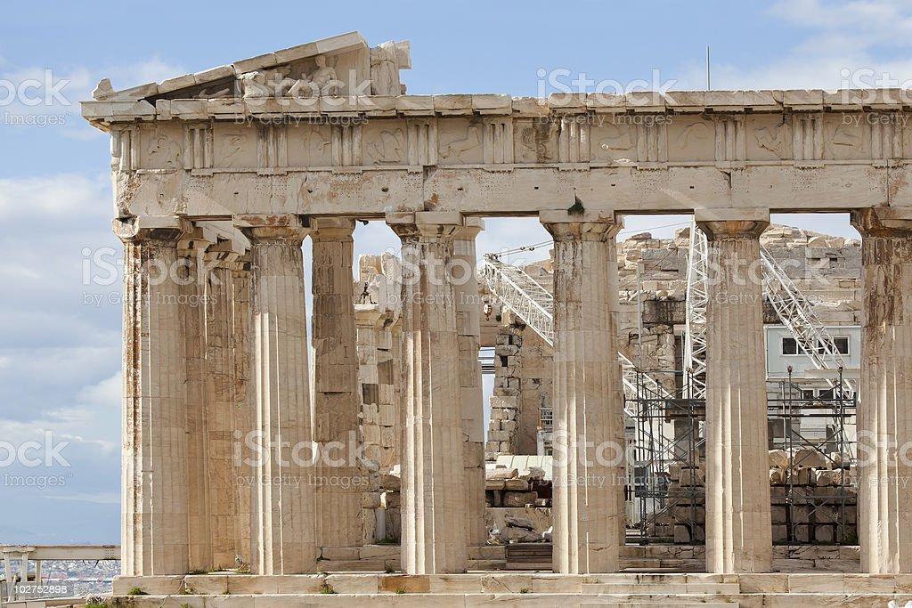 Parthenon eastern part royalty-free stock photo
