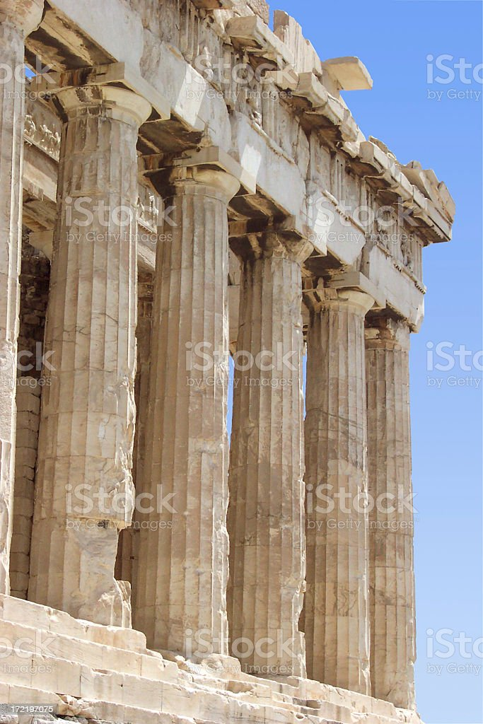 Parthenon front face royalty-free stock photo