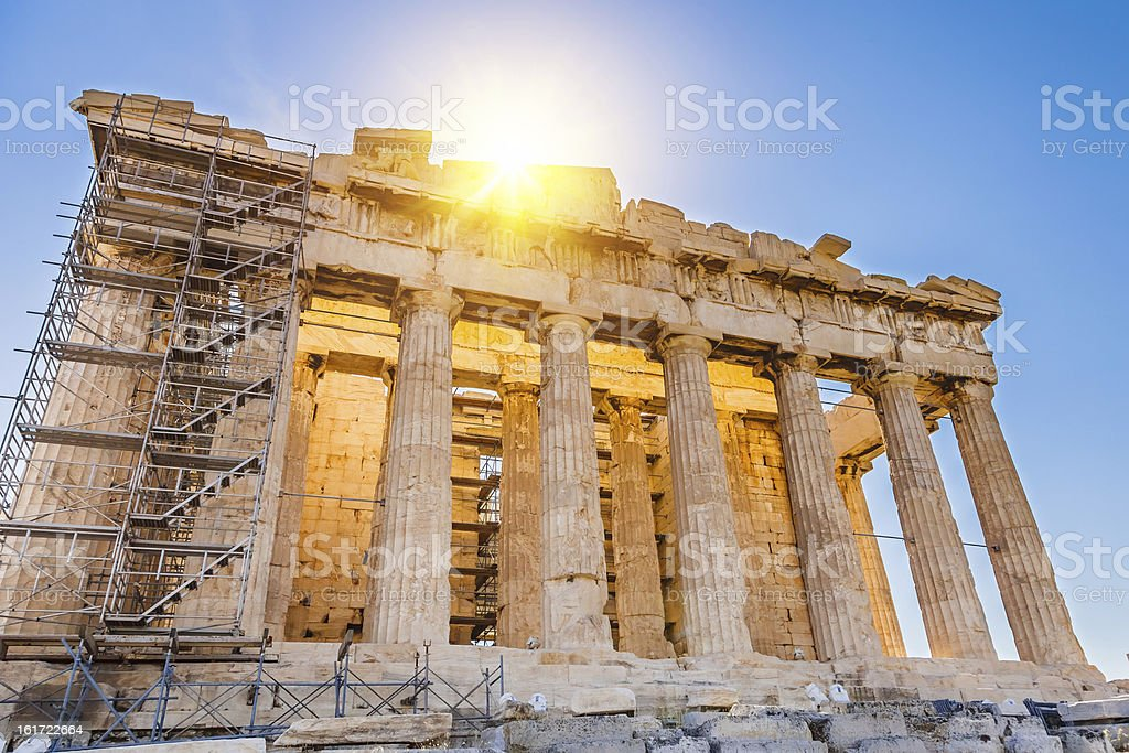 Parthenon in Acropolis, Athens royalty-free stock photo