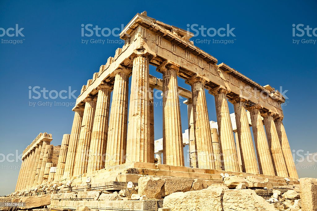 Parthenon in Athens stock photo