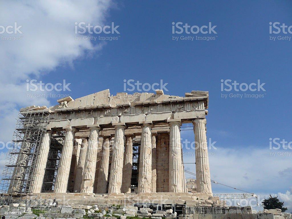 Parthenon on Acropolis of Athens, Greece stock photo
