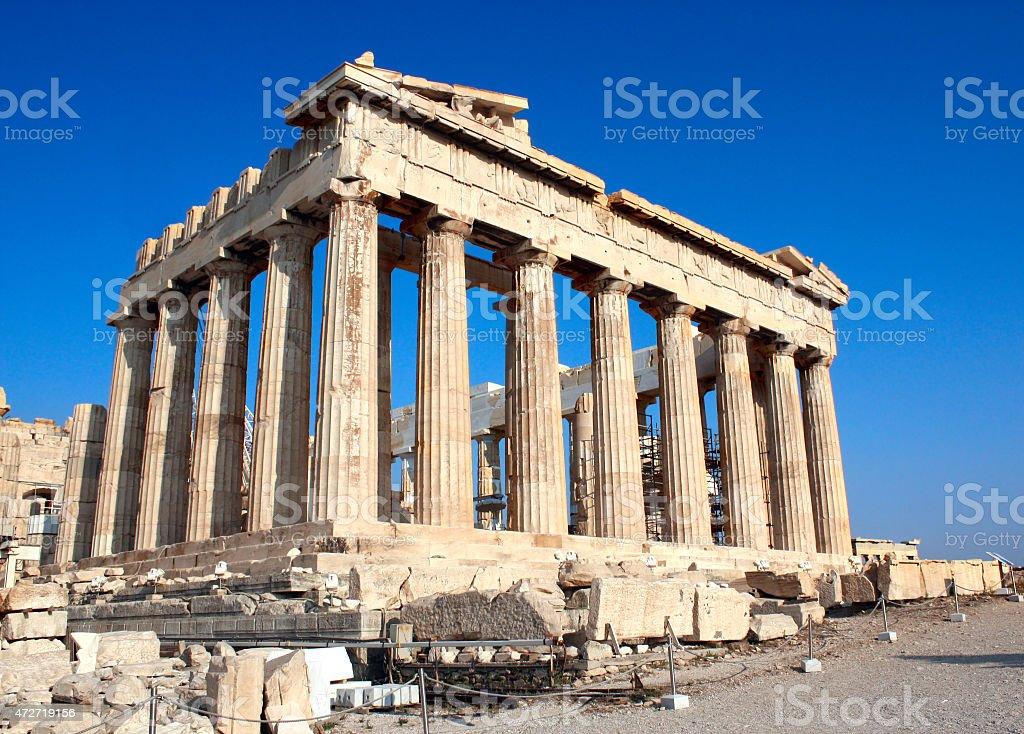Parthenon on the Acropolis, Athens, Greece stock photo