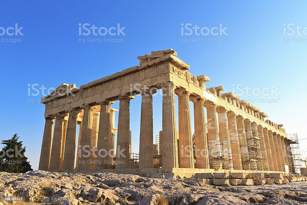 Parthenon on the Acropolis in Athens, Greece royalty-free stock photo