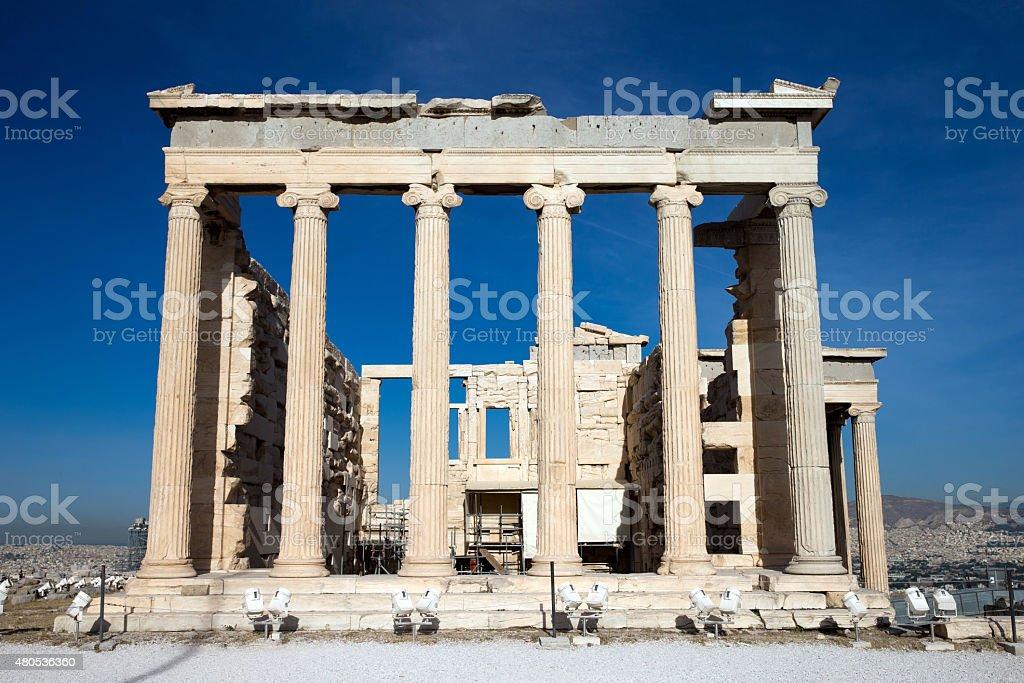 Parthenon on the Acropolis stock photo