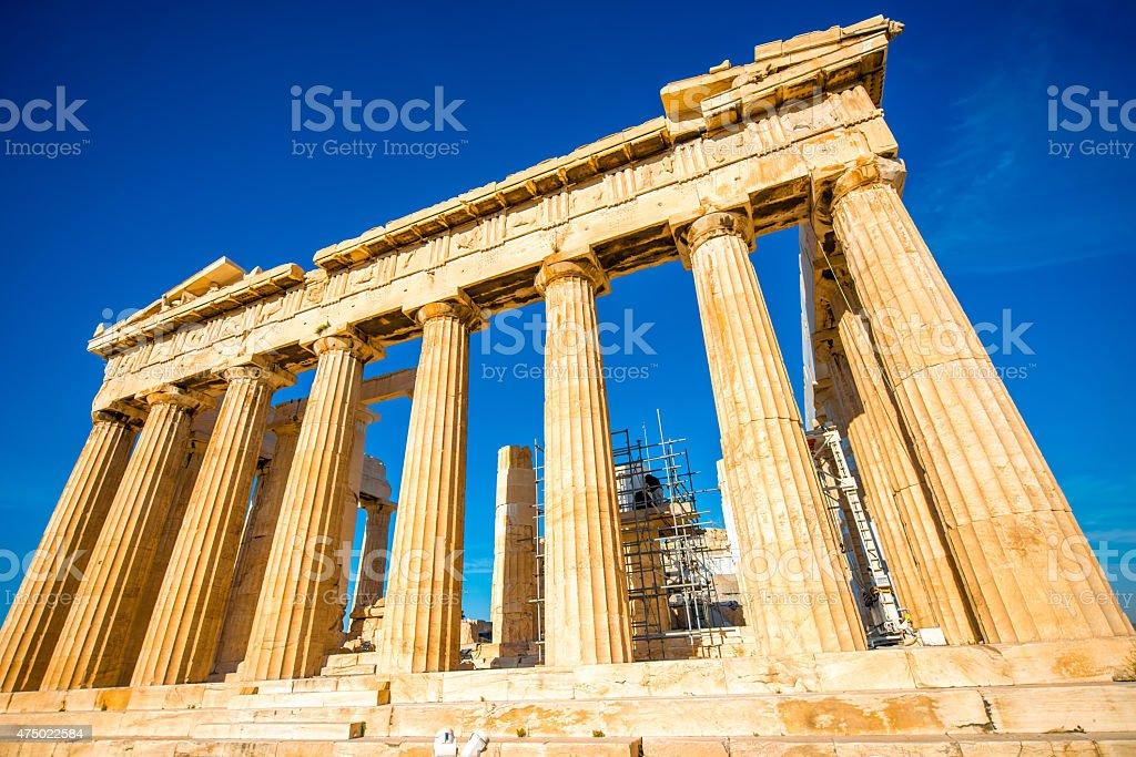 Parthenon temple in Acropolis stock photo