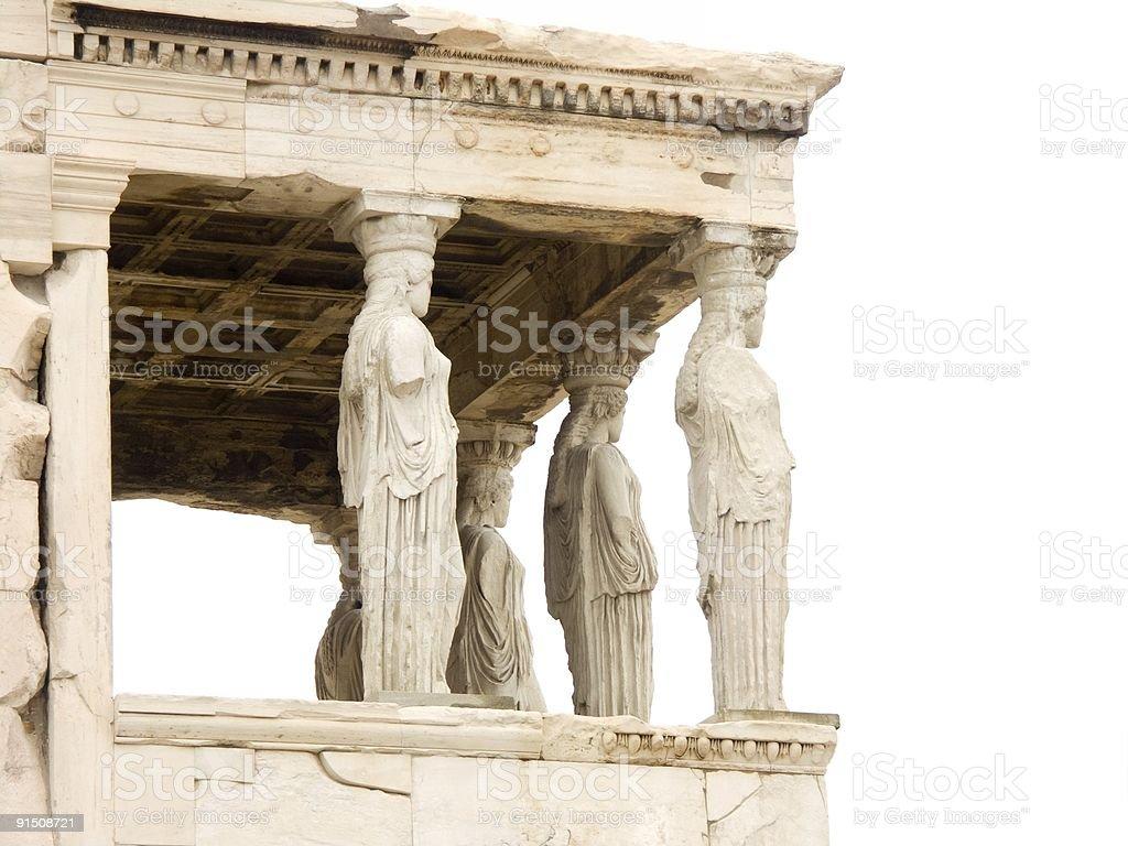 Parthenon temple on Acropolis, Athens, Greece royalty-free stock photo