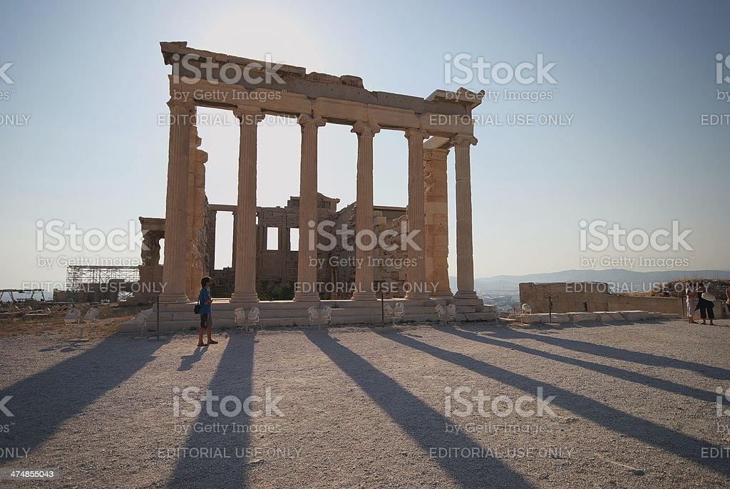 Parthenon temple stock photo