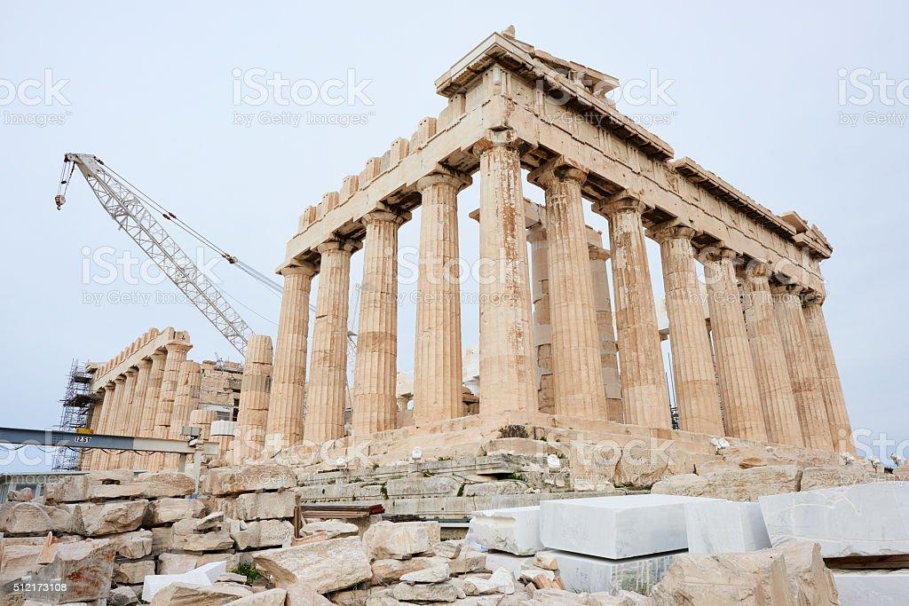 Parthenon Under Restoration stock photo