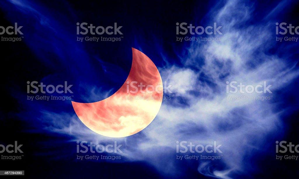 Partial Eclipse stock photo