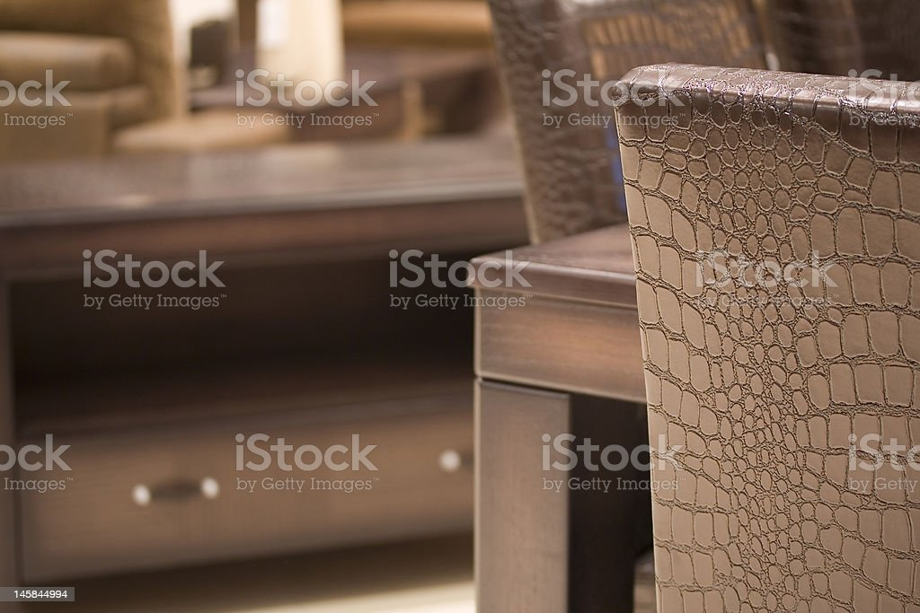 Partial leather chair royalty-free stock photo