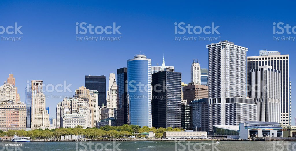 Partial New York City Skyline from the Water royalty-free stock photo