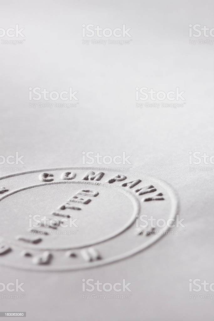 Partial Notary Stamp stock photo