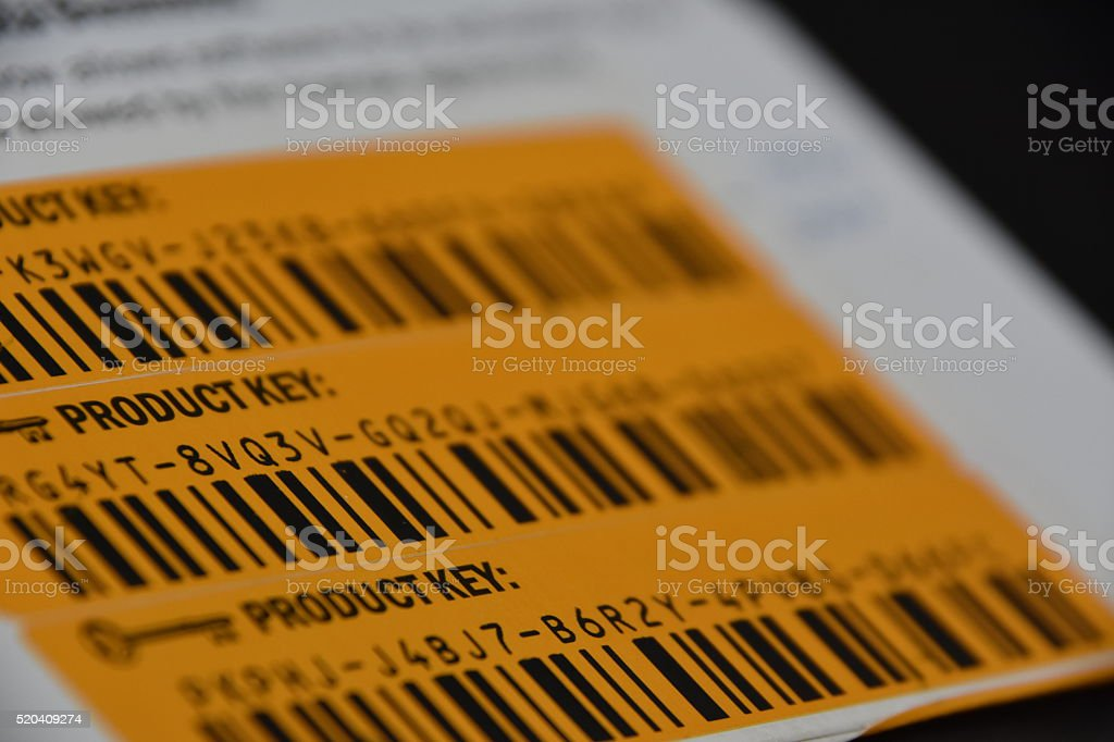 partial  product Code stock photo