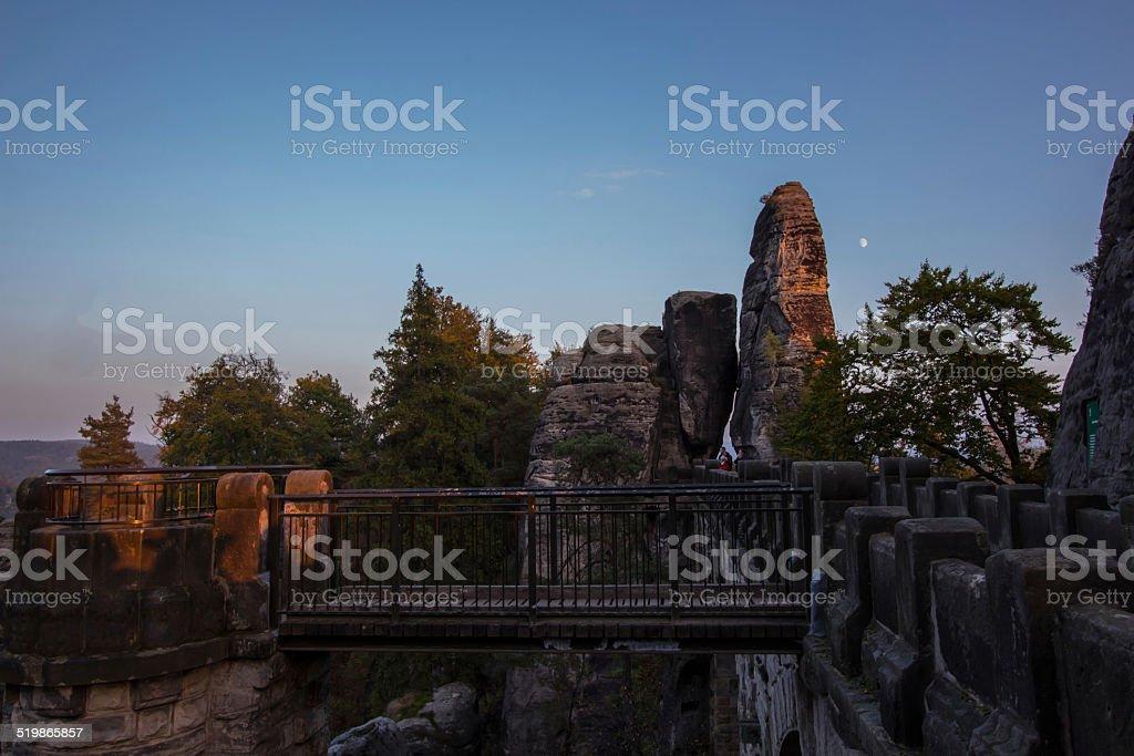 Teilansicht Basteibrücke Sächsische Schweiz stock photo