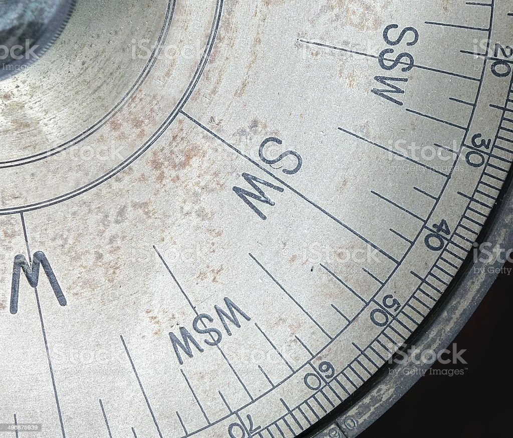 Partial View of an Old Compass royalty-free stock photo