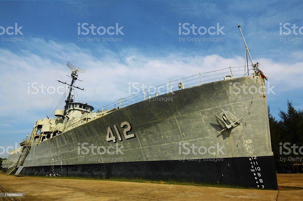 Partial view of modern Thai war ship royalty-free stock photo