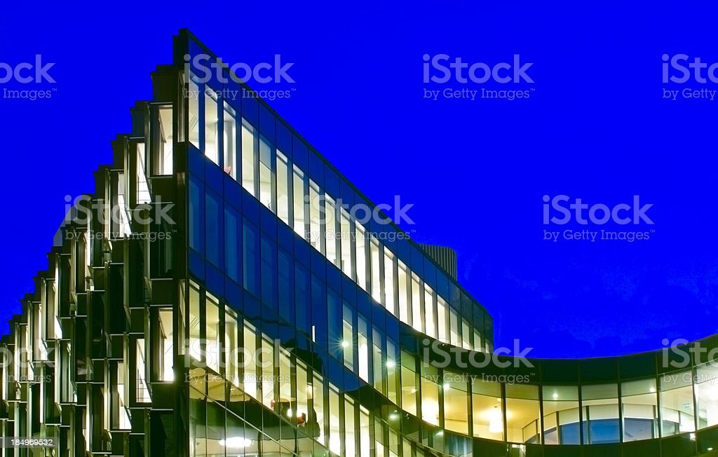 Partial View of Offices Building at Nightfall royalty-free stock photo