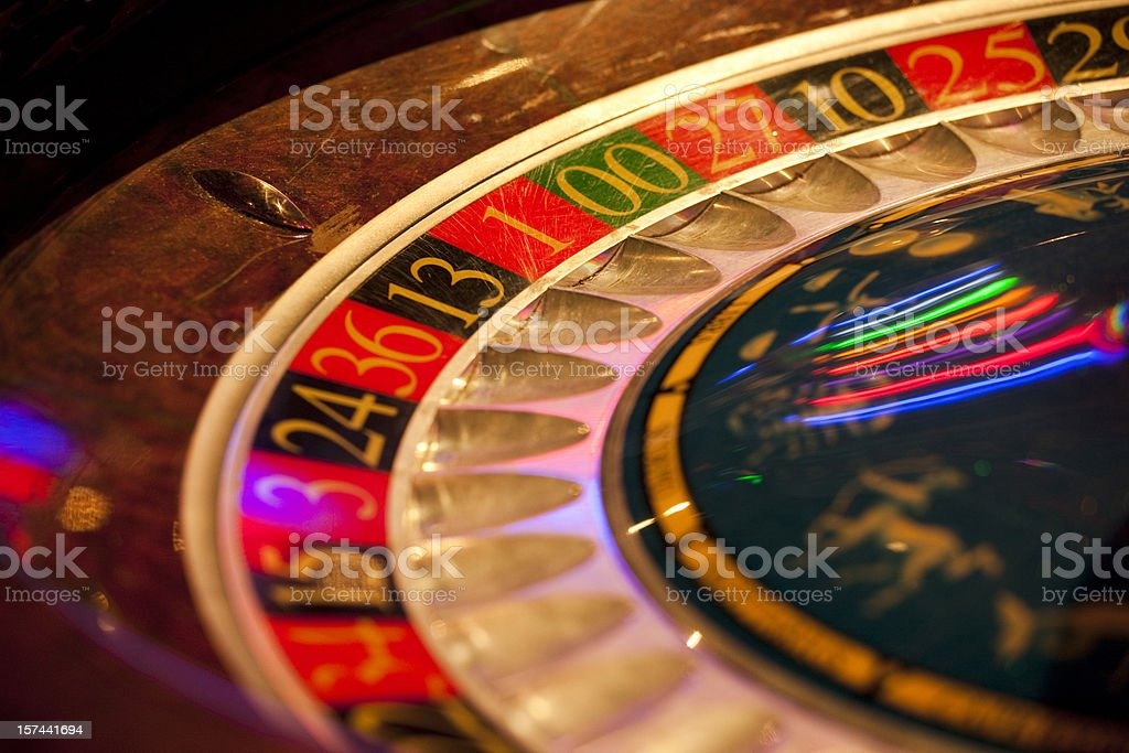 Partial View of Roulette Wheel, Casino, Gambling royalty-free stock photo