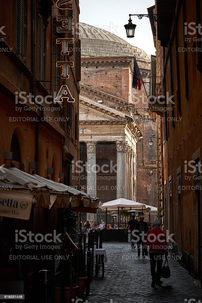 Partial view of the Pantheon stock photo