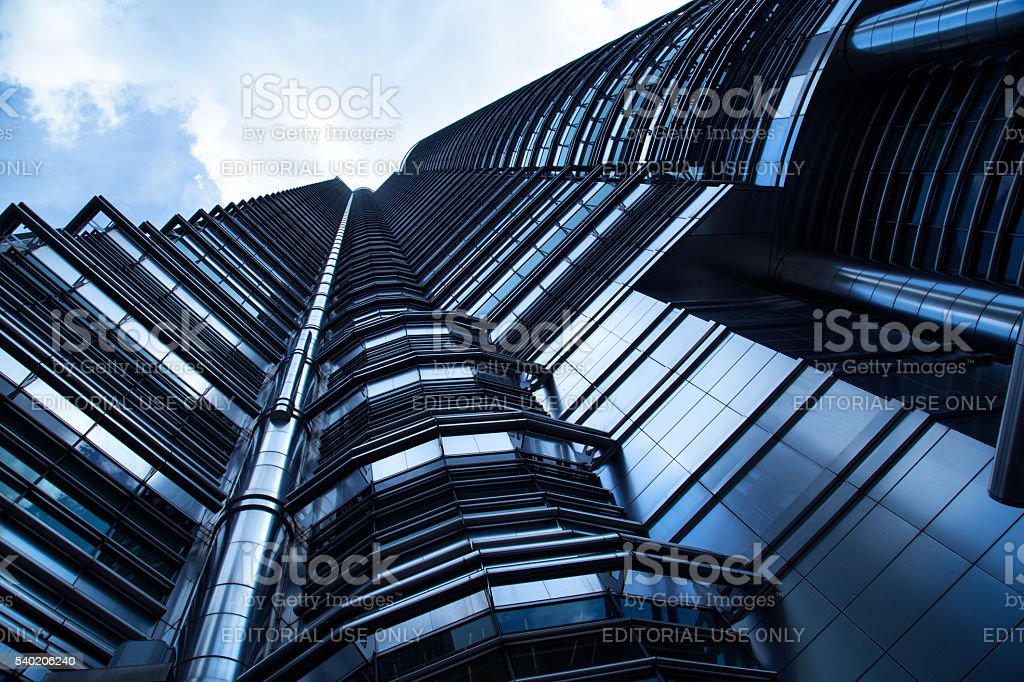 Partial View Of The Petronas Twin Towers stock photo