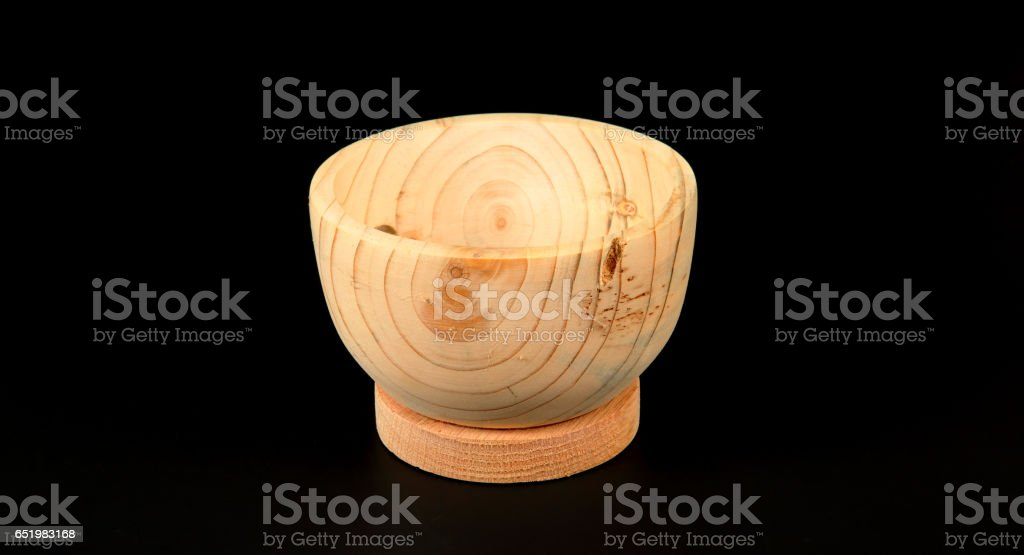 Partially comp[leted wood turned bowl stock photo